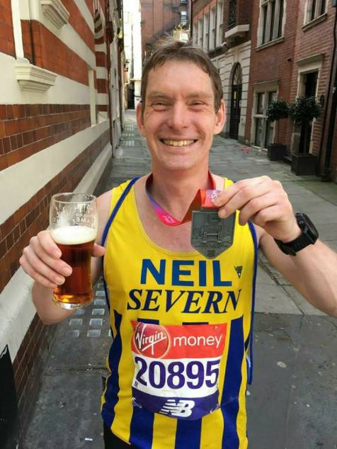 Neil Taylor enjoying a beer